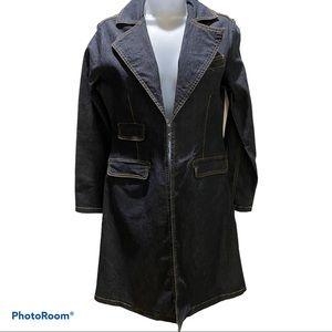 Bisou Bisou Denim Long Coat Size 6